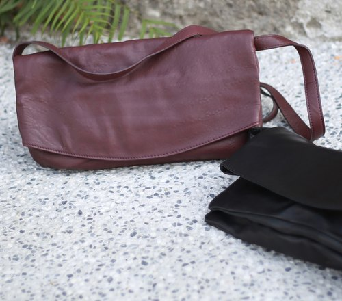 Elegance paragraph Putao Zi leather colors ~ Limited Sew side backpack / shoulder bag / hand bag / leather / Leather