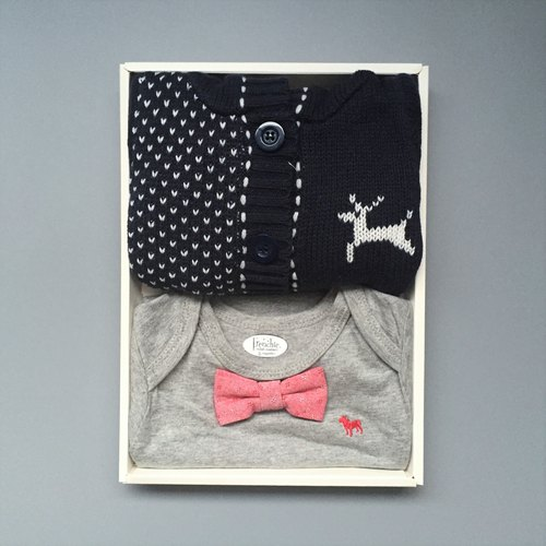 La Chamade / Cozy baby boy gift set
