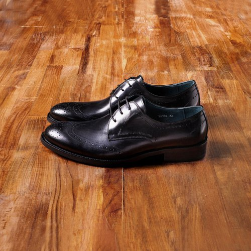 Vanger elegant and beautiful ‧ modern and elegant carved Derby shoes Va164 will be black