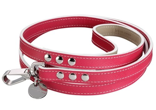 H & amp; S Hennessy & Sons - Saffiano [Fuxia red] Oxford leather leash