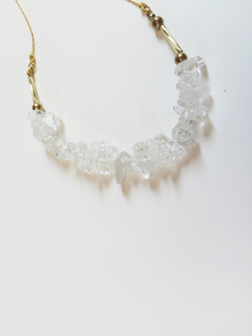 Marygo ﹝ asymmetric ice ﹞ gold necklace