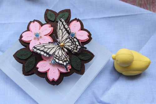 Sew wind butterfly hand mirror