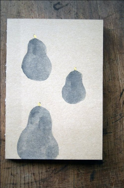 BestFriend / Artist Series / Kraft painted wire-bound notebook / pears back