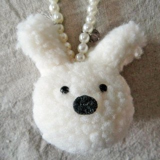 White Bunny bags Straps / Key Chains