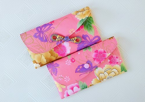 Purple flowers open ● recruit popular red envelopes Group / female money bag / book bag (Limited)