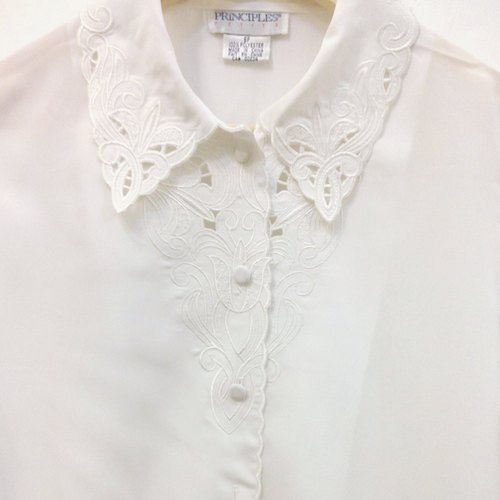 ✵ white い ka ba su nn ✵ white vintage shirt collar over the United States