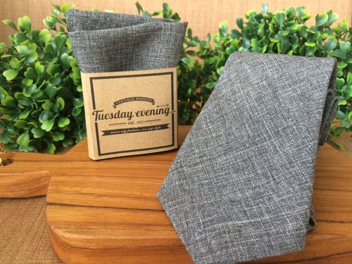 Neck Tie Grey Osaka Set