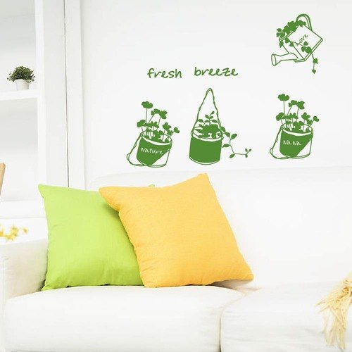 Smart Design Creative trace wall stickers ◆ love the flowers 8 color options