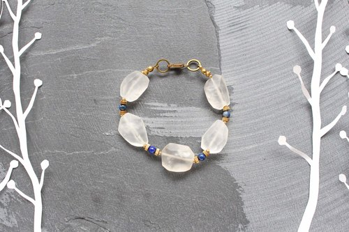 Sugar (blue) -half's half of pure brass bracelet