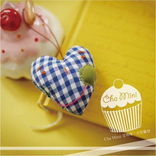 Cha mimi。加油真心手機吊飾 Lucky heart cell-phone charm!