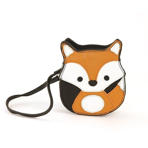 Spot Sleepyville Critters Cool Music Village USA design - lightweight modeling playful fox animal purse / clutch 65065UB