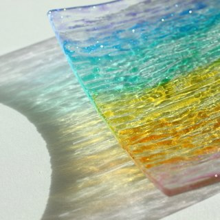Rainbow Textured Decorative Glass Jewelry Dish・Customized Rainbow Lover Gift