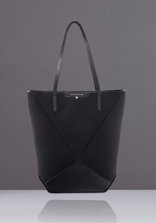 NEVER MIND female Shituo Te bag - leather + space cotton -MILEY- stylish black - New Year