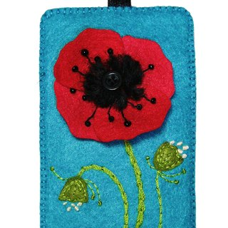 Flower Series Card Case - Poppy