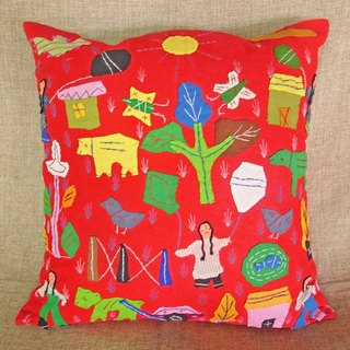 Hand Embroidered Cushion cover / Pillow Cover /   Decorative Pillows