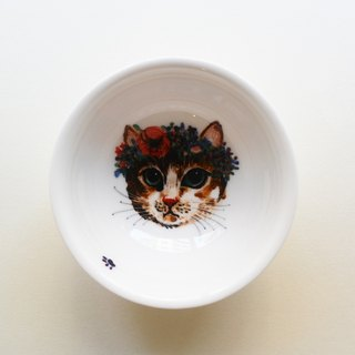 Painted large cup - Corolla kitten
