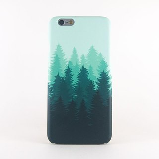 Green Forest Silhouette iPhone case