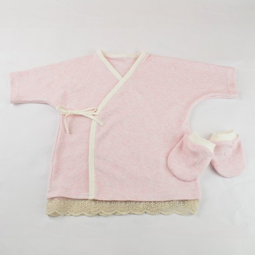 Pink lace baby kit (long-sleeved or short-sleeved belly clothes optional Oh)
