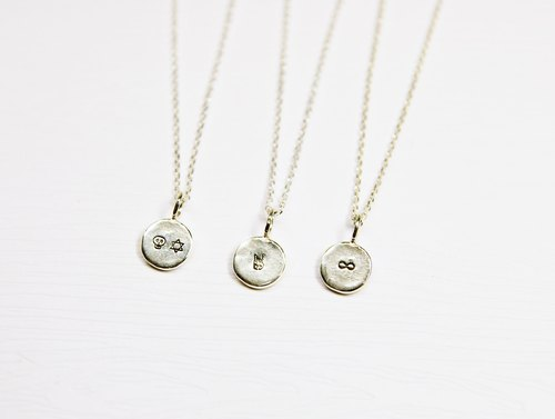"""Ermao Silver"" Sterling Custom typing along small round short chain"