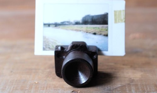 Mini wooden camera ▣ Name card/photo holder