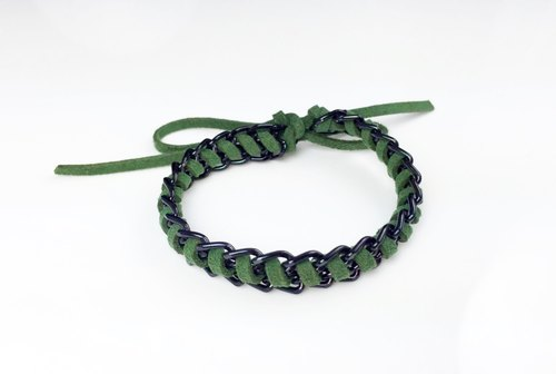 Shengmo suede green x black color chain