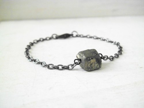 Contracted personality pyrite natural healing stone bracelet