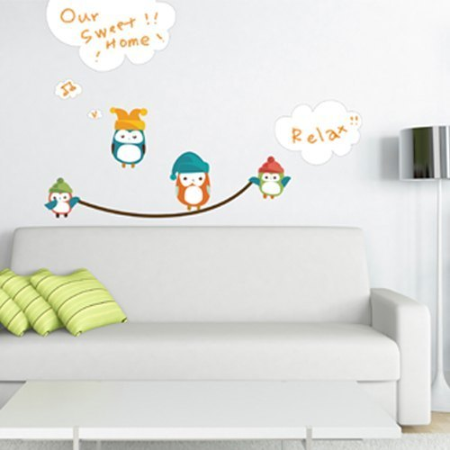 / Clouds owl whiteboard Whiteboard Owl / color Seamless wall stickers