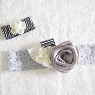 Handmade Elastic Headband and hair clip set