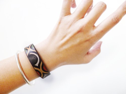 POPO│ original hand-painted visual communication │ │ personality. Cow leather bracelet (narrow version)