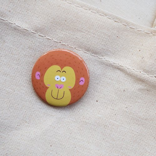 CHUMIO animal stickers series _ pin / magnet (monkey)