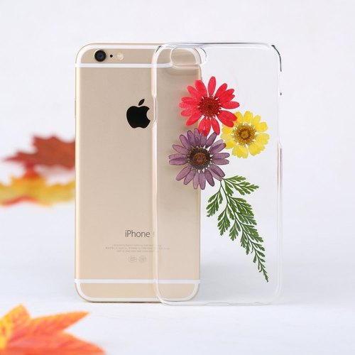 Clear iPhone Case Pressed Flower Samsung Case