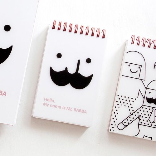 Dessin x Jstory-Mr.Babba tear ring Notebook SA, JST13696