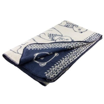 Fabulous Goose ultra-soft bristles blanket organic cotton Series - Circus Bear (blue)