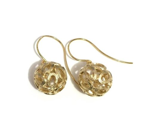 Simple Gold Plated Earrings