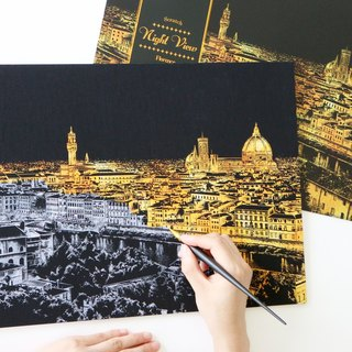 Lago - Hand Scratch City Golden Night with Scratch Pad - Florence, LGO34631