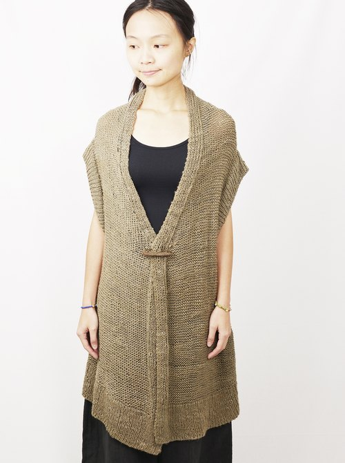 Hand-woven banana fiber vest jacket _ fair trade