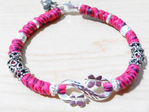 One hundred break for silk silver Creative bracelet wax cord - fly together