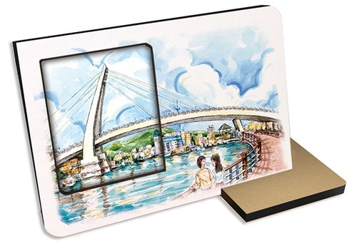 Taiwan's top ten tourist attractions ~ fresh water ~ 30 seconds sound and light recording card postcard photo frame sightseeing spot terminal gift souvenir