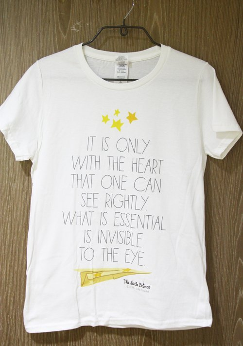 "Little Prince movie version - [important thing only heart to see]: short sleeve T-shirt ""neutral / self"" (white)"