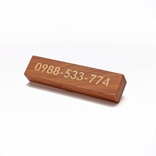 Custom Wooden Phone Number plates