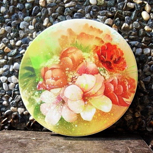 Blossoming ceramic absorbent coasters