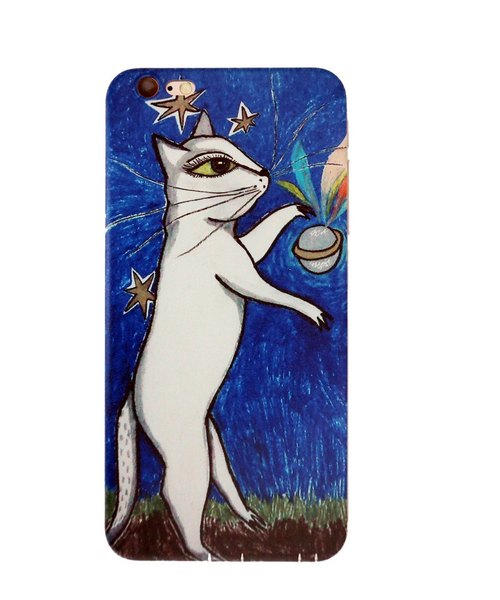 Nine cats | cat planet iPhone6P / 6sP common soft-shell mobile phone illustration