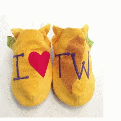 [British handmade shoes FunkyFeet Fashions] love Taiwan yellow toddler shoes