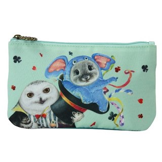 Circus Series - Canvas Embroidered Pencil Case (Magic Cap)