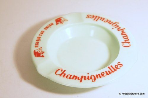 Vintage Champigneulles Ashtray old French-made objects living grocery handmade glass ashtray Made in France