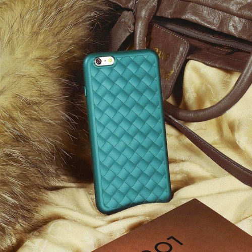 iPhone 6 / 6s Plus Mobile Shell 5.5 inch [Knit light Yun Knitting - green silk]