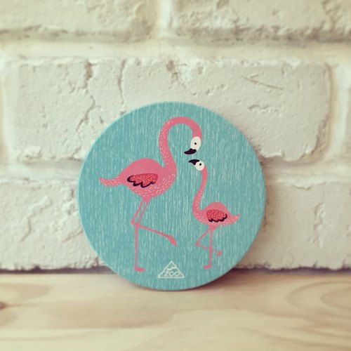Flamingo water coasters / coaster Yingge Ceramics