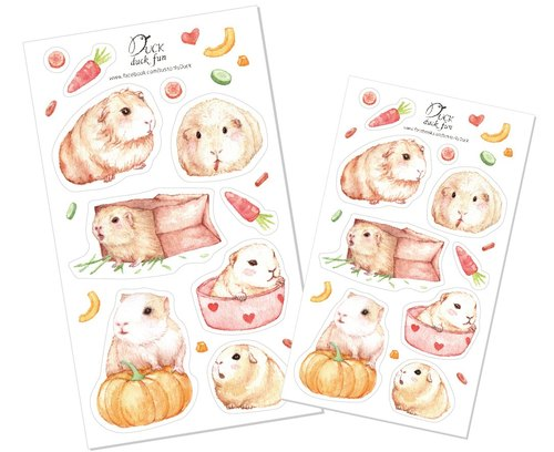 Stickers guinea pigs