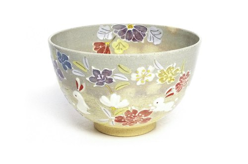 Evening twilight wipe the bowl flower pattern pill bunny
