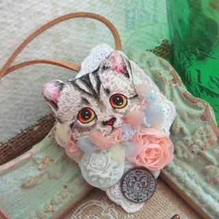 Garohands dream sweet kitty head lace roses feel atmosphere of long chain A197 Department of Forestry gift